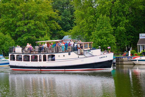 The good ship, Emita II, on the Seneca River near Lock 24 in Baldwinsville, New York. 2011 Baldwinsville Alumni weekend presented by the  C. W. Baker Alumni Association at Paper Mill Island in Baldwinsville, New York on Saturday, August 6, 2011.