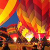 2007 night glow at the Mighigan Challenge Balloonfest, Howell, Michigan.