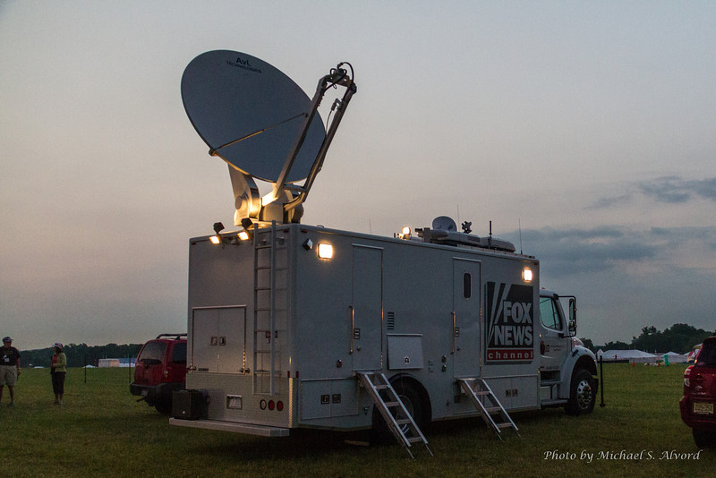 Fox News even showed up to film the ballon launch.