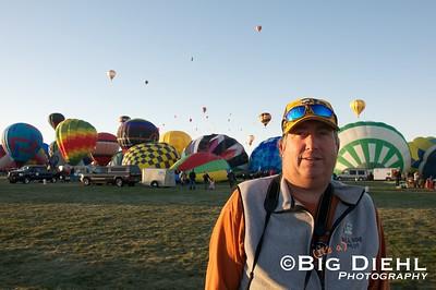 "Balloon Pilot Bill Noe, of the Gallup, New Mexico based ""Up to Noe Good"" Balloon."