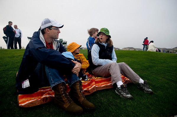 A local family reacts to the news that the  Erie Town Fair Balloon Festival was canceled at the Vista Ridge golf course in Erie, Saturday, May 15, 2010. <br /> <br /> <br /> <br /> Kasia Broussalian