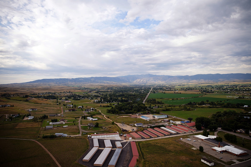 Matthew Gaston | The Sheridan Press<br>The view of the Bighorn mountains from Bob Kross' hot air balloon Friday, Sept. 6, 2019.