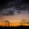 Sunrise over the batting cages