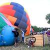 A row of balloons