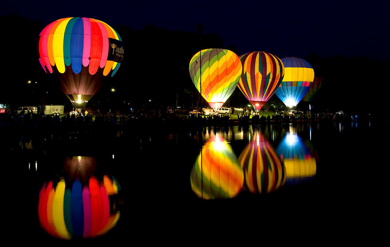 a balloon glow at Callaway gardens