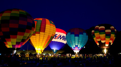 a balloon glow at Callaway gardens