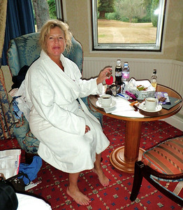 We enjoyed a cup of tea each morning in our room.