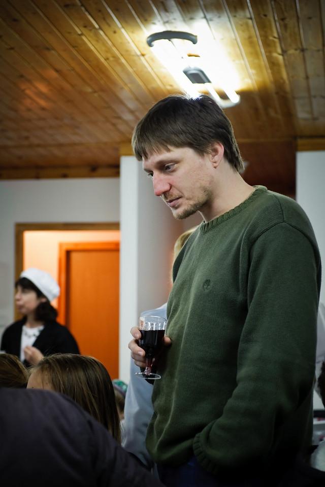 David and a wine