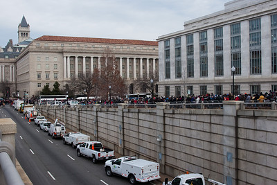 The crowd leaving the maill, a view down 12th Street -- President Barack Obama's Second Inauguration, Jan 21, 2013