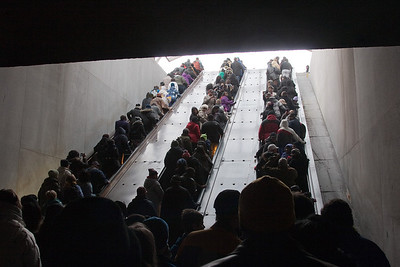 Exiting the L'Enfant Plaza Metro Station, 9:34am -- President Barack Obama's Second Inauguration, Jan 21, 2013