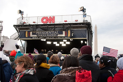CNN coverage with Anderson Cooper -- President Barack Obama's Second Inauguration, Jan 21, 2013