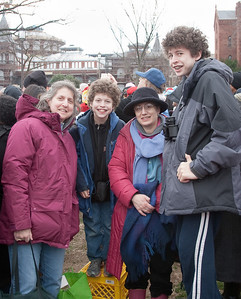 We brought milk crates for the kids to stand on -- President Barack Obama's Second Inauguration, Jan 21, 2013
