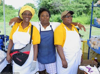 The ladies of Culpeppers Bajan Restaurant.