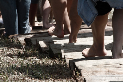 Barefoot walk to support the mission of Joy International to end child trafficking and slavery.