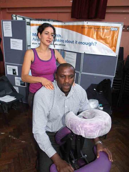 Chairman  of the Trust,Carl Lammy enjoying a massage