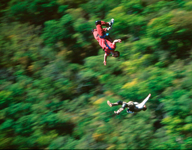 Base Jumping, New River West Gorge, West Virginia
