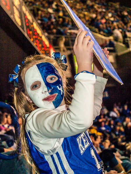 """One of the CATS biggest """"little"""" fans... - She said she would love to meet Coach Calipari."""