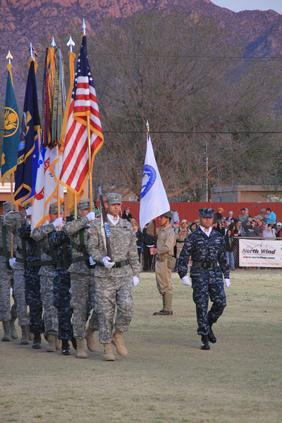 Black Daggers, White Sands, New Mexico, White Sands Missile Range, Bataan, opening ceremonies, Bataan Death March, Bataan Memorial Death March, half marathon, Army, Parachute, Special ops, special operations, soldier, salute, saluting, national anthem, color guard, flag, U.S.A, march