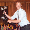 "Will Fehlinger | The Herald-Tribune<br /> Nels Ross entertained the crowd with his juggling expertise and jokes. He said, ""Being more joyful, healthy and connected helps us be more productive."""