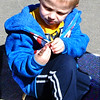 Diane Raver | The Herald-Tribune<br /> Adam Moorman, 3, enjoyed eating candy afterwards.