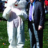 Diane Raver | The Herald-Tribune<br /> The Easter Bunny and Mayor Mike Bettice signaled for the hunt to begin.