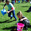 Diane Raver | The Herald-Tribune<br /> Youngsters were ready to collect eggs.