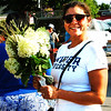 Debbie Blank | The Herald-Tribune<br /> Annie Adams, Batesville, was pleased with her hydrangeas purchase Aug. 4.