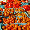 Debbie Blank | The Herald-Tribune<br /> Big and little tomatoes, peppers and squashes were offered by Jan Baker, Oldenburg.