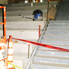 Debbie Blank | The Herald-Tribune<br /> Just inside the north entrance is a regular staircase that adjoins very wide gathering stairs. Students will be able to work on homework and socialize there when not in classes.