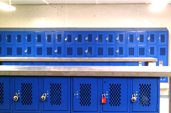 Debbie Blank | The Herald-Tribune<br /> New lockers already are being used by physical education students. Windows and lockers of different heights allow teachers to have better visibility for good supervision.