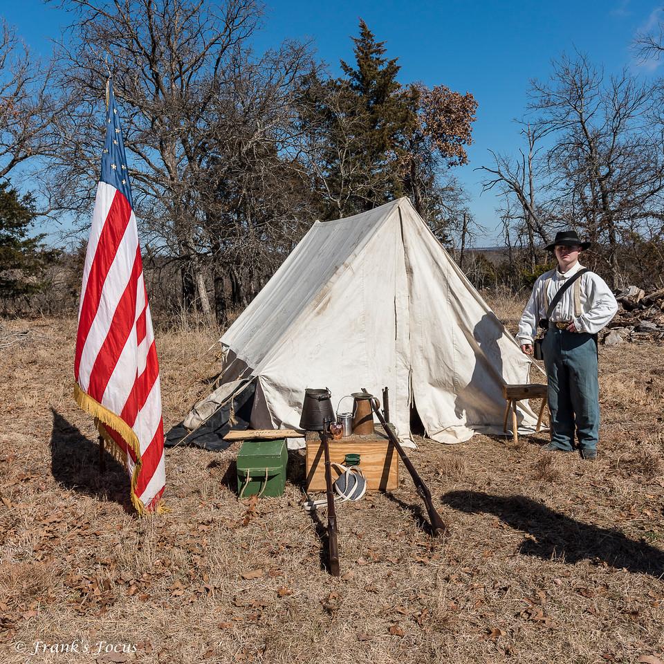Re-enactment - Battle of Round Mountain_2018 near Yale, Oklahoma