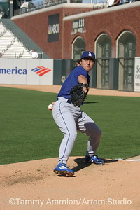 """Kazuhisa """"Kazue"""" Ishii, Los Angeles Dodgers, PacBell Park, June 25, 2003"""