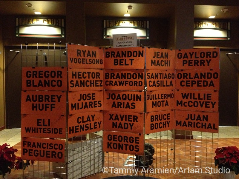 1351 - Magnetized name placards from the World Series parade cars, starting at $125.