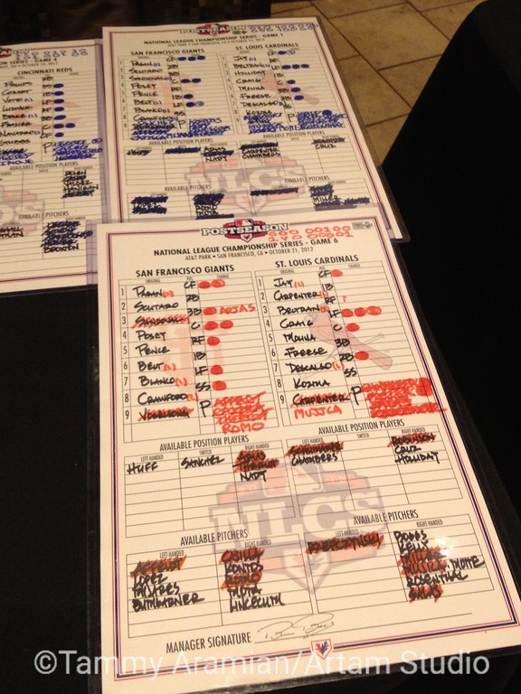 1358 - these are not the actual original lineup cards, they are COPIES. ooh, but they're laminated!
