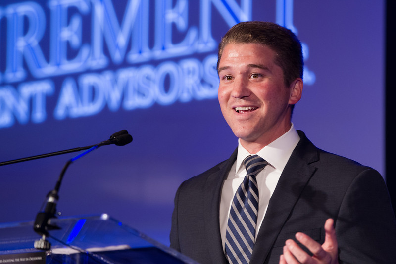 Executive Vice President Andrew Flinton accepted the Beacon Award fpr Retirement Investment Advisors.