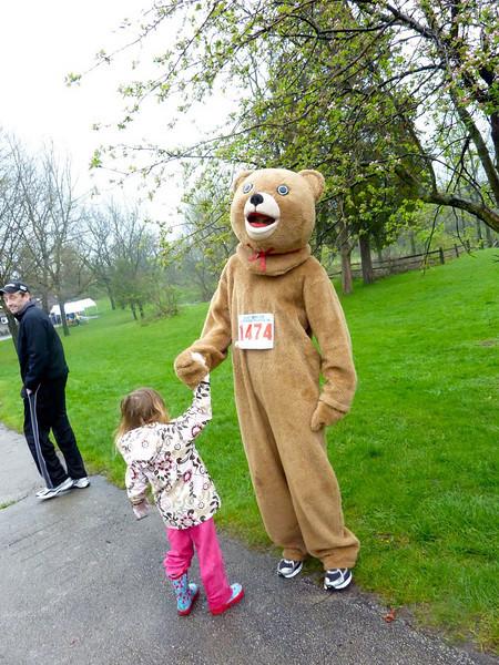 Holly ain't afraid of no bear!