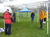 More tents to set up.  Will this race ever have a sunny day?