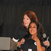Krista Gawronski supports Youth of the Year who gets a standing ovation , Maria Del Carmen Mendiola as she talks about her experiences at The Fabulous Women's event , Because I'm A Girl, held on Saturday October 12 , 2013 at the Boys & Girls Club.