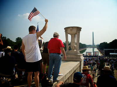 From the Glenn Beck rally on the National Mall. This photo was used by a couple of web news stories discussing the event.