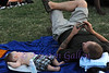 Bedford BBQ and Blues Fest<br /> Nathan McGrady and his son Axel relaxing while listening to the blues.