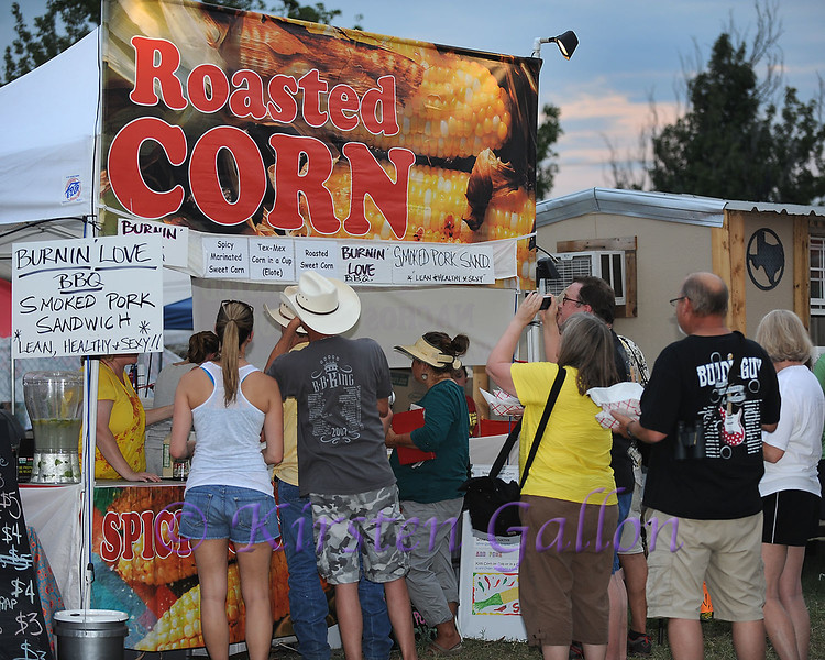 Bedford BBQ and Blues Fest<br /> People waited in long lines for Roasted Corn on the Cob, which was a festival favorite.