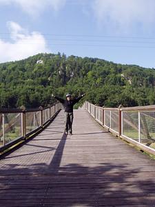 The longest wooden bridge in Europe