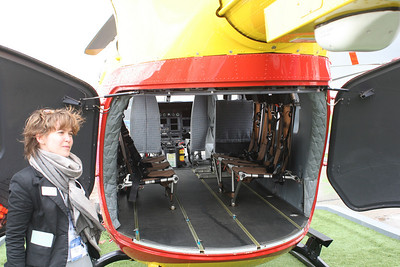 Tour around the helicopter exhibition