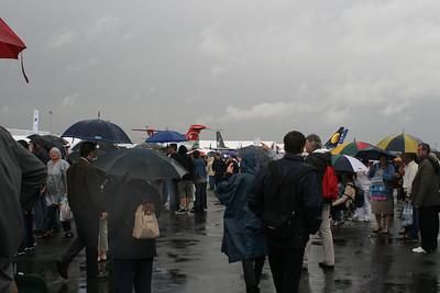 The general theme of the fair - umbrellas everywhere