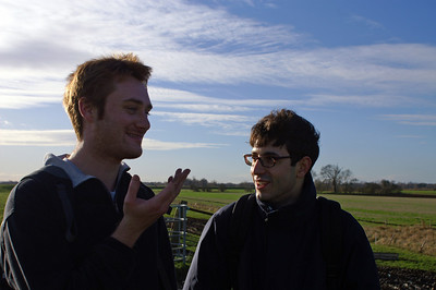 Daniel and Laurent discussing the gender of a cow