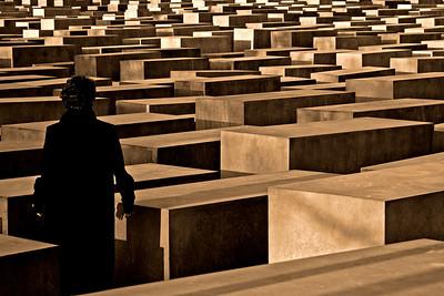 At the Holocaust memorial