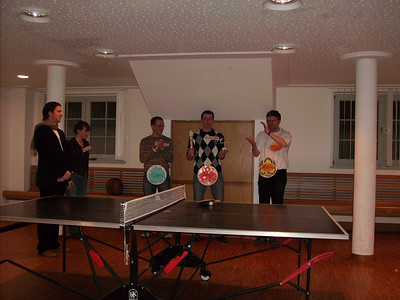 The winners of the table tennis tournament