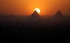 .In our hostel in Cairo - great view of the pyramids at sunset
