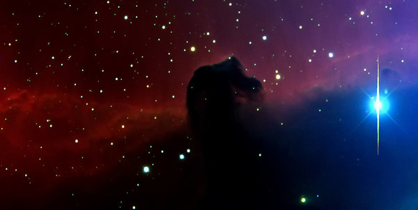 IC434 - horsehead nebula. My favourite result of our time at the observatory Hoher List! We were allowed to use the Cassegrain 1m telescope for this picture.
