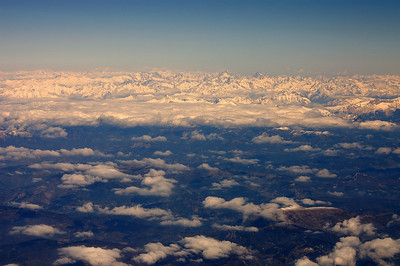 On the plane to Marseille - the Alps